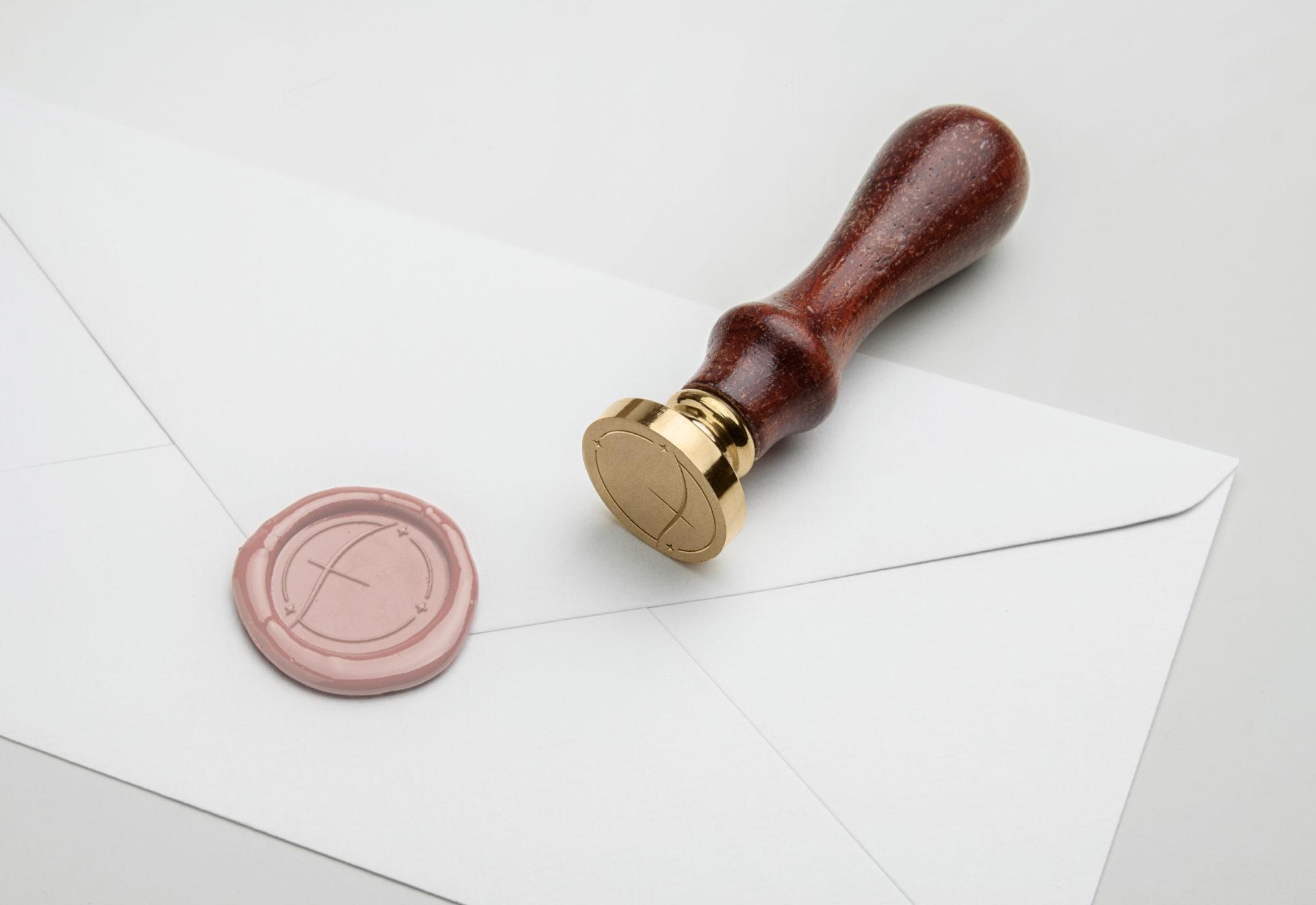 Enveloppe avec sceau