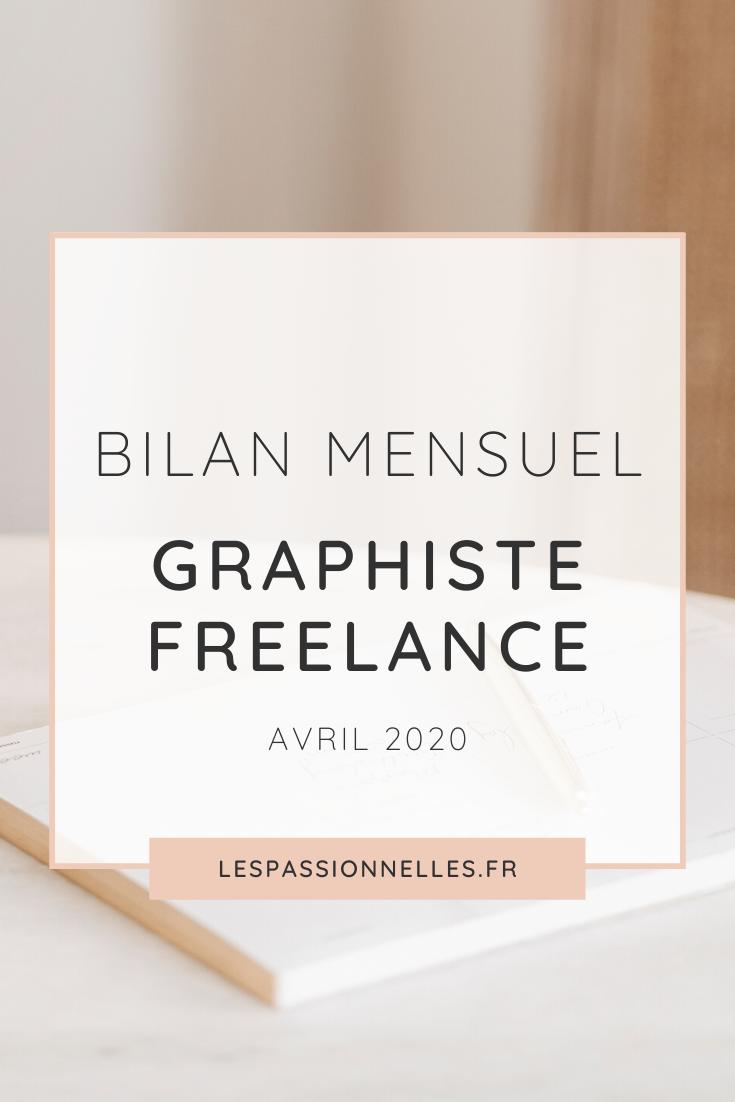 Bilan business en graphiste freelance : mois d'avril 2020