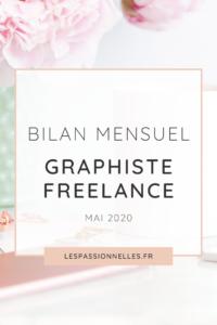 Bilan business en graphiste freelance : mois de mai 2020