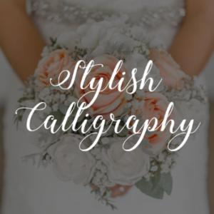 typographie gratuite polices ecriture stylish calligraphy