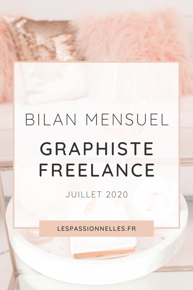 Bilan business en graphiste freelance : mois de Juillet 2020