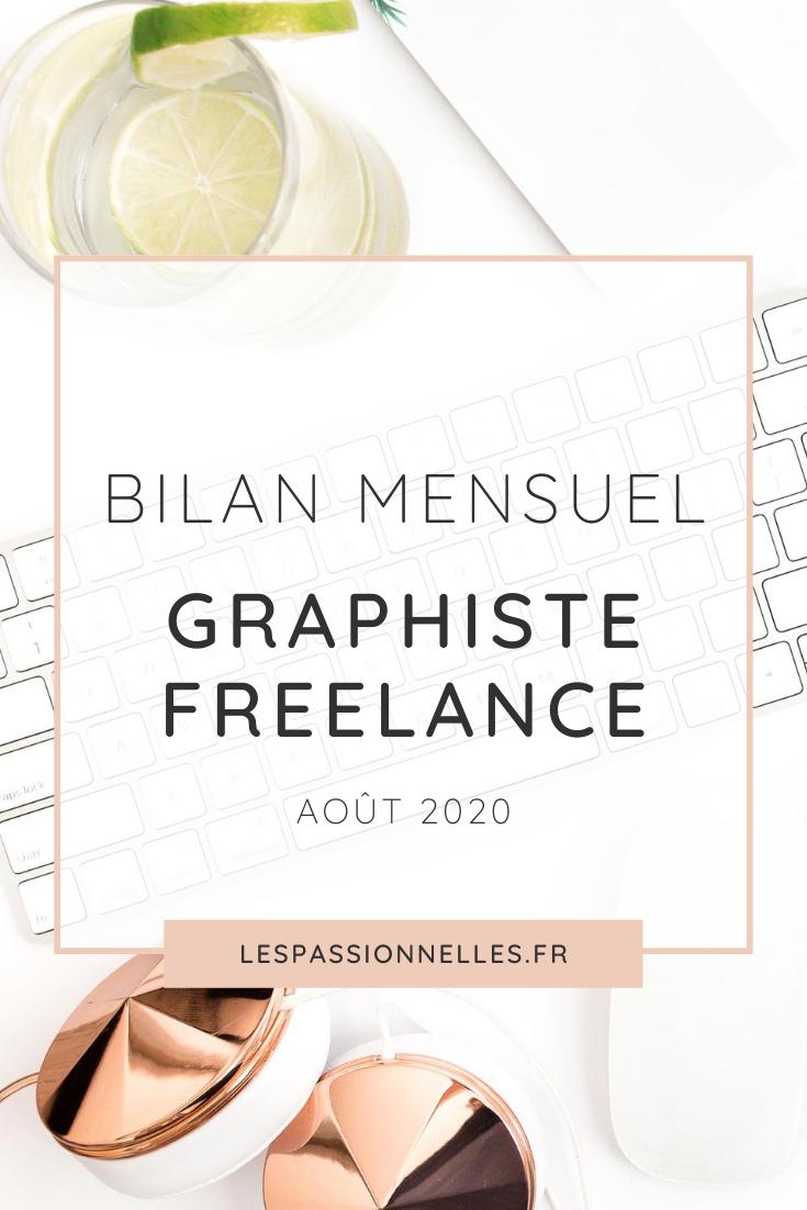 Bilan business en graphiste freelance : mois de Août 2020