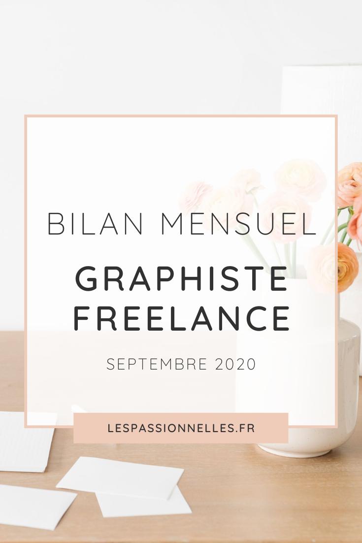 Bilan business en graphiste freelance : mois de Septembre 2020