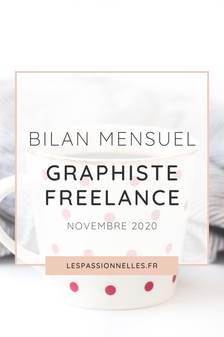 Bilan business en graphiste freelance : mois de Novembre 2020