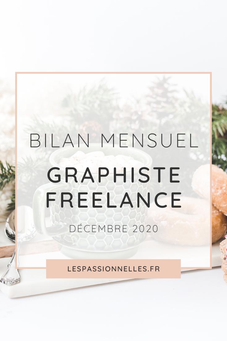 Bilan business en graphiste freelance : mois de Décembre 2020