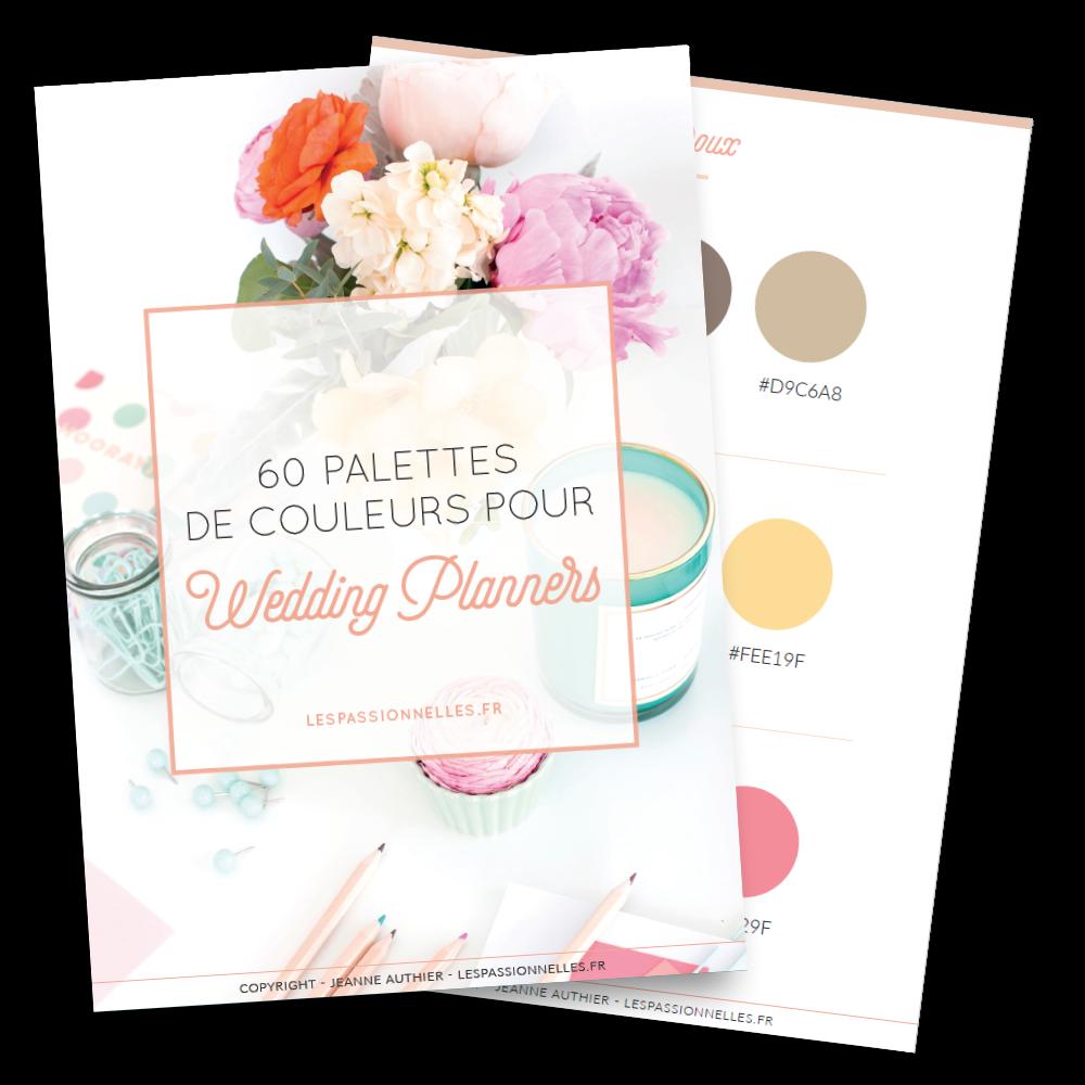 60 palettes de couleurs pour le logo de ton Wedding Business